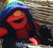Happy Hippy Elmo by NoniRae