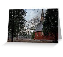 Yosemite Chapel Greeting Card