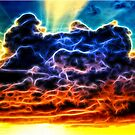 Biblical Electrified Cumulus Clouds Skyscape by Shelley Neff