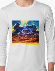 Biblical Electrified Cumulus Clouds Skyscape Long Sleeve T-Shirt
