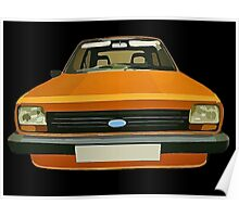 FORD FIESTA CAR T-SHIRT Poster