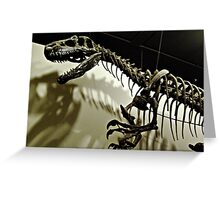 Raptor Skeleton and Scary Shadows Greeting Card