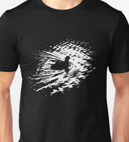Coot, silhouette as swimming on a pond T-Shirt