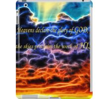 Biblical Electrified Cumulus Clouds Skyscape - Psalm 19 1 iPad Case/Skin