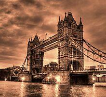 Tower Bridge Sepia by Dean Messenger