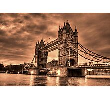 Tower Bridge Sepia Photographic Print
