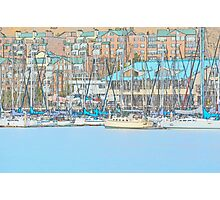 Docked Sail Boats Photographic Print