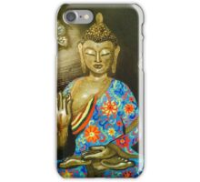 Floral Buddha with butterflies iPhone Case/Skin