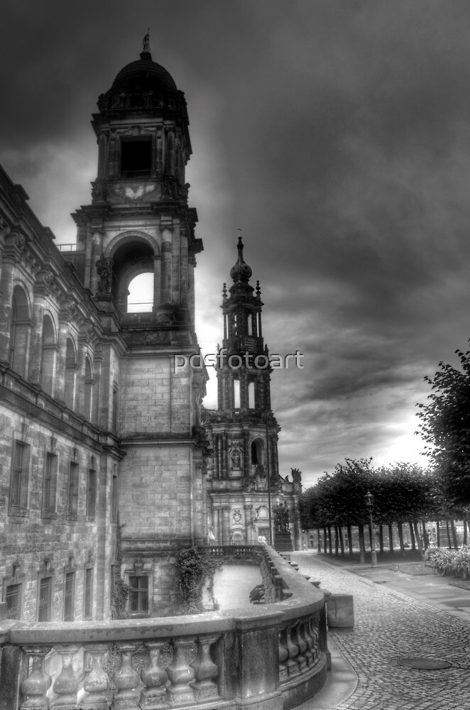 Old town Dresden Germany by pdsfotoart