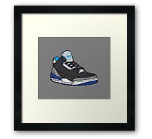 Shoes Blue Grey (Kicks) Framed Print