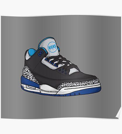 Shoes Blue Grey (Kicks) Poster