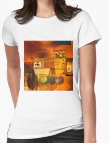 The Memory of Leaves Womens Fitted T-Shirt