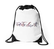 Wanderlust —A Strong Desire to Travel Drawstring Bag