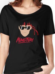 Kung Fury Minimalistic Design Women's Relaxed Fit T-Shirt