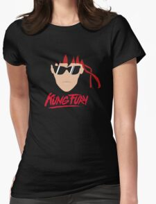 Kung Fury Minimalistic Design Womens Fitted T-Shirt