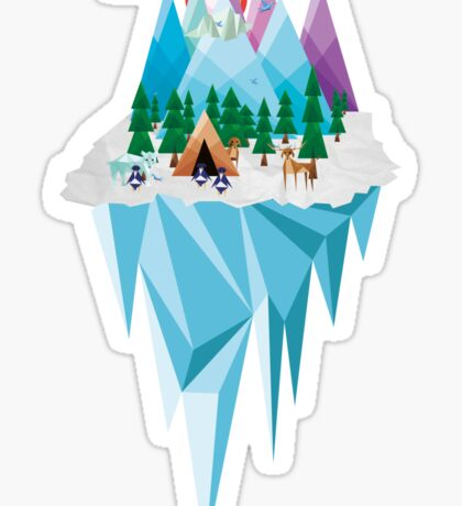 Geometrical Landscape Sticker