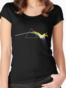 Rainicorn Floyd Women's Fitted Scoop T-Shirt