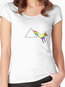 Rainicorn Floyd Women's Fitted Scoop T-Shirt
