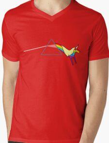 Rainicorn Floyd Mens V-Neck T-Shirt