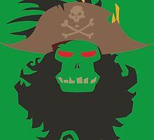 The Ghost Pirate LeChuck Minimalistic Design by benOwar