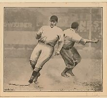 Benjamin K Edwards Collection Lawrence Doyle Fred Merkle New York Giants baseball card portrait by wetdryvac