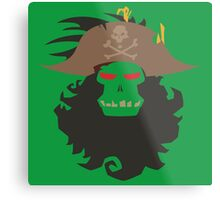 The Ghost Pirate LeChuck Minimalistic Design Metal Print