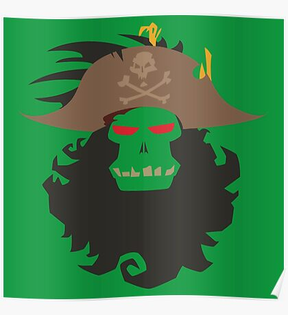 The Ghost Pirate LeChuck Minimalistic Design Poster