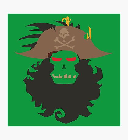 The Ghost Pirate LeChuck Minimalistic Design Photographic Print
