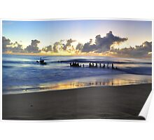 SS Dicky at sunrise Poster