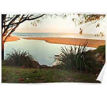 dicky beach at sunrise  Poster