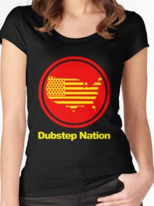 Dubstep Nation pt. II  Women's Fitted Scoop T-Shirt