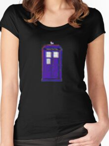 3D Tardis Women's Fitted Scoop T-Shirt