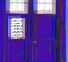 3D Tardis Sticker