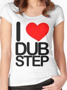 I love dubstep (dark)  Women's Fitted Scoop T-Shirt