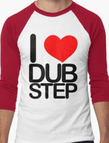 I love dubstep (dark)  Men's Baseball ¾ T-Shirt