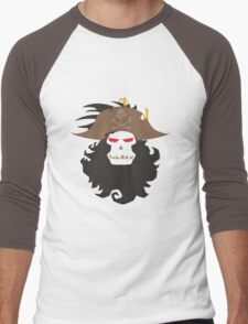 The Ghost Pirate LeChuck Minimalistic Design Men's Baseball ¾ T-Shirt