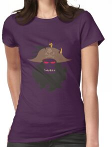 The Ghost Pirate LeChuck Minimalistic Design Womens Fitted T-Shirt