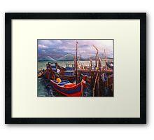 Boats Resting Framed Print