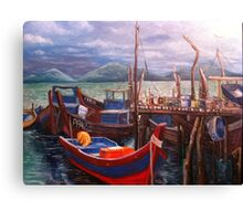 Boats Resting Canvas Print
