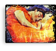 Sleeping Fresco Canvas Print
