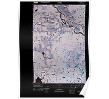 USGS Topo Map Washington State WA Lawrence 20110418 TM Inverted Poster