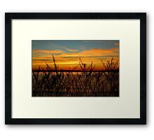 Alki Sunset Framed Print