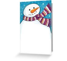 A Friendly Carrot-Nosed Snowman Greeting Card