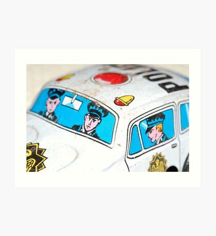 Toy Cops Art Print
