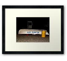 Waiting for the Rescue Call, Life Guard Boat on Beach, Atlantic City, NJ Framed Print