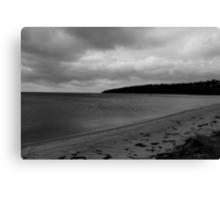 Storm warning (right panel) B&W version Canvas Print