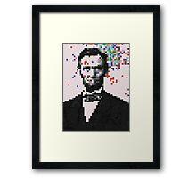Pixel Splat Framed Print