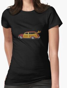 Woody Car Womens Fitted T-Shirt