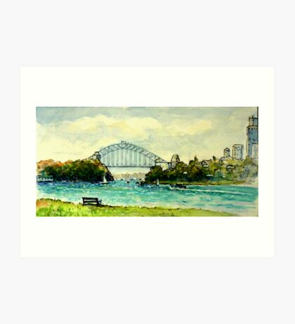 Sydney Harbour from Clarke Point, Woolwich Art Print