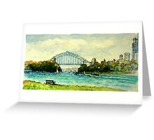 Sydney Harbour from Clarke Point, Woolwich Greeting Card